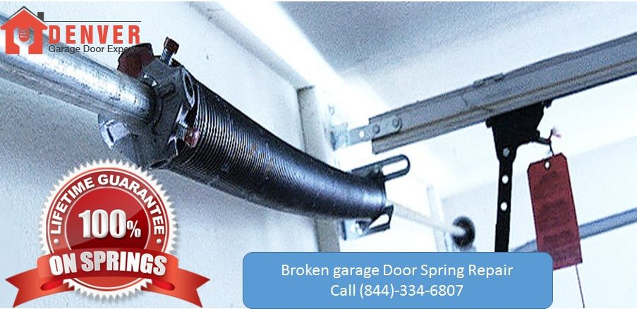 Broken Garage door spring repair service in denver