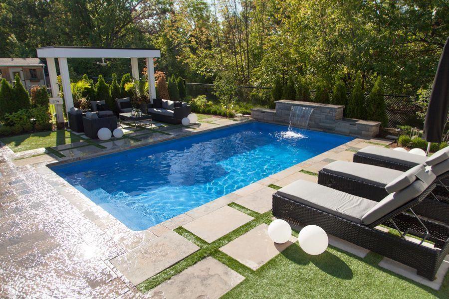 Inground Poollandscapingideas Backyard Pool Landscaping Pool