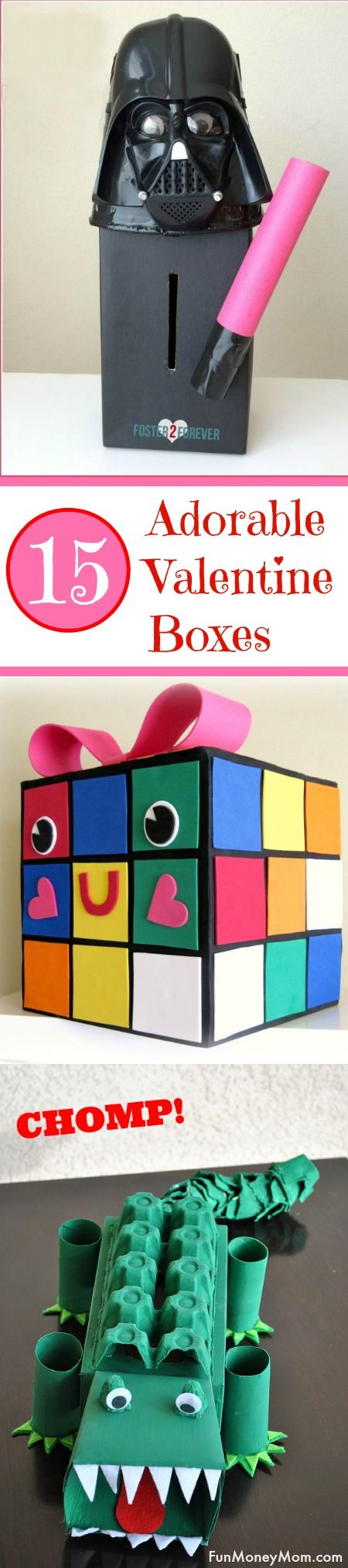 15 super cute valentine boxes | cards, box and craft