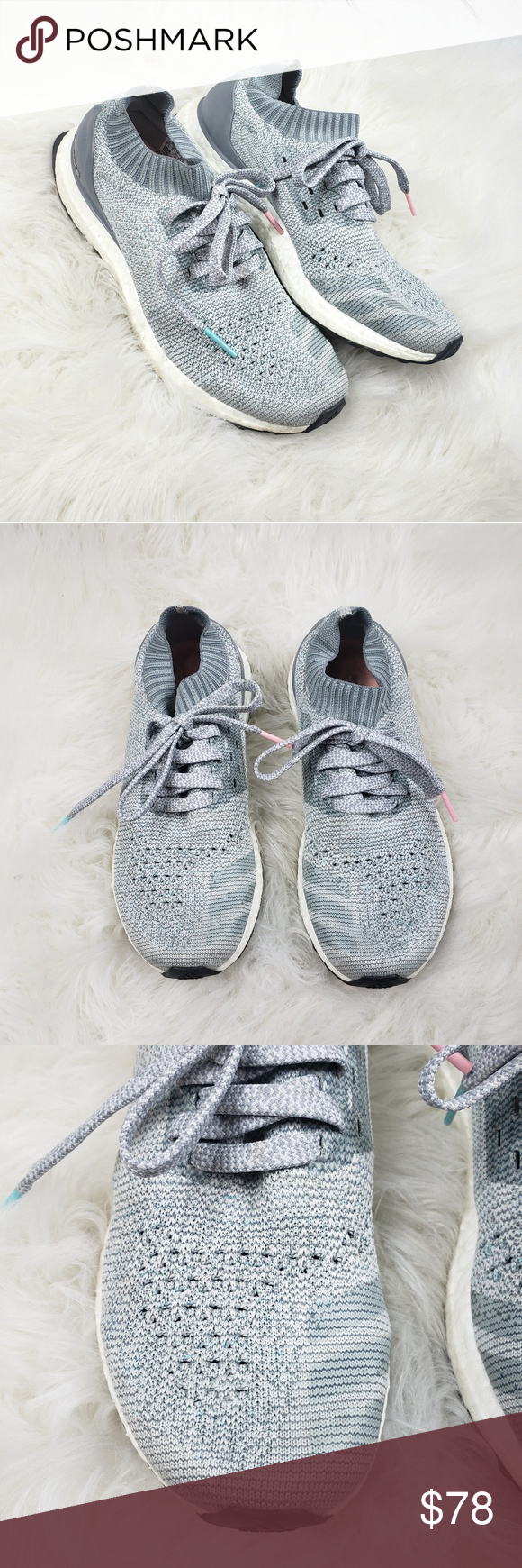 Adidas Ultra Boost Uncaged Light Silver Blue Pink Great