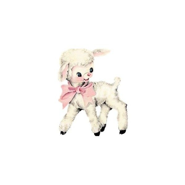 Tumblr Liked On Polyvore Featuring Fillers Art Backgrounds And Fillers Pink Vintage Easter Lamb Drawing Sheep Drawing