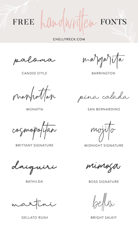 My Favorite Handwritten Fonts Part 2 | chellyreck.com  design  freefonts  scriptfonts  handwritten  fonts