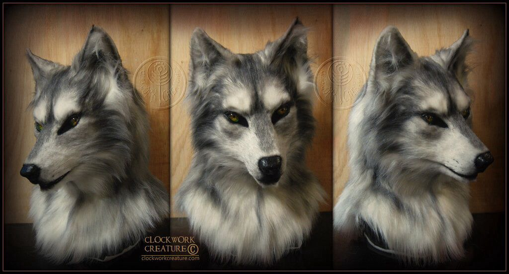 Wolf head mask | Fursuit | Furry art, Wolf mask, Fursuit head