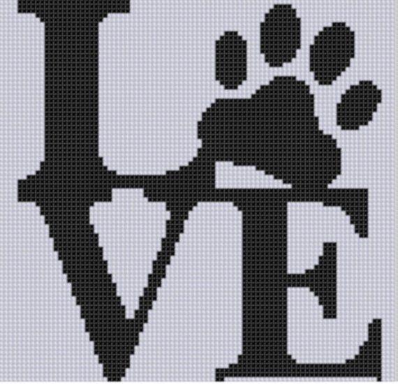 Photo of Love Paw Cross Stitch Pattern