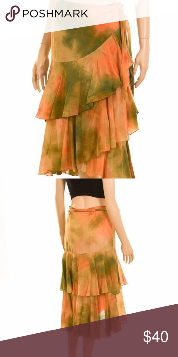 David Meister Tie Dye Skirt Light weight Skirt Perfect for a hot summer David Meister Skirts Midi