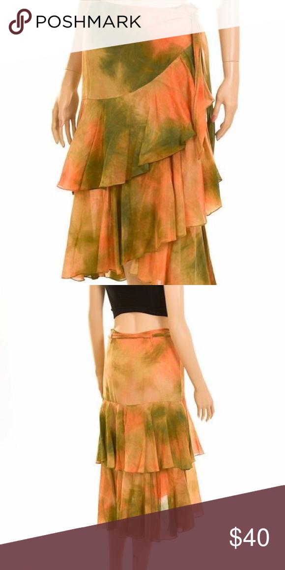 David Meister Tie Dye Skirt Light weight Skirt Perfect for a hot summer David Meister Skirts Midi