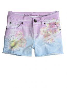 Multi Floral Printed Denim Shorts sz7