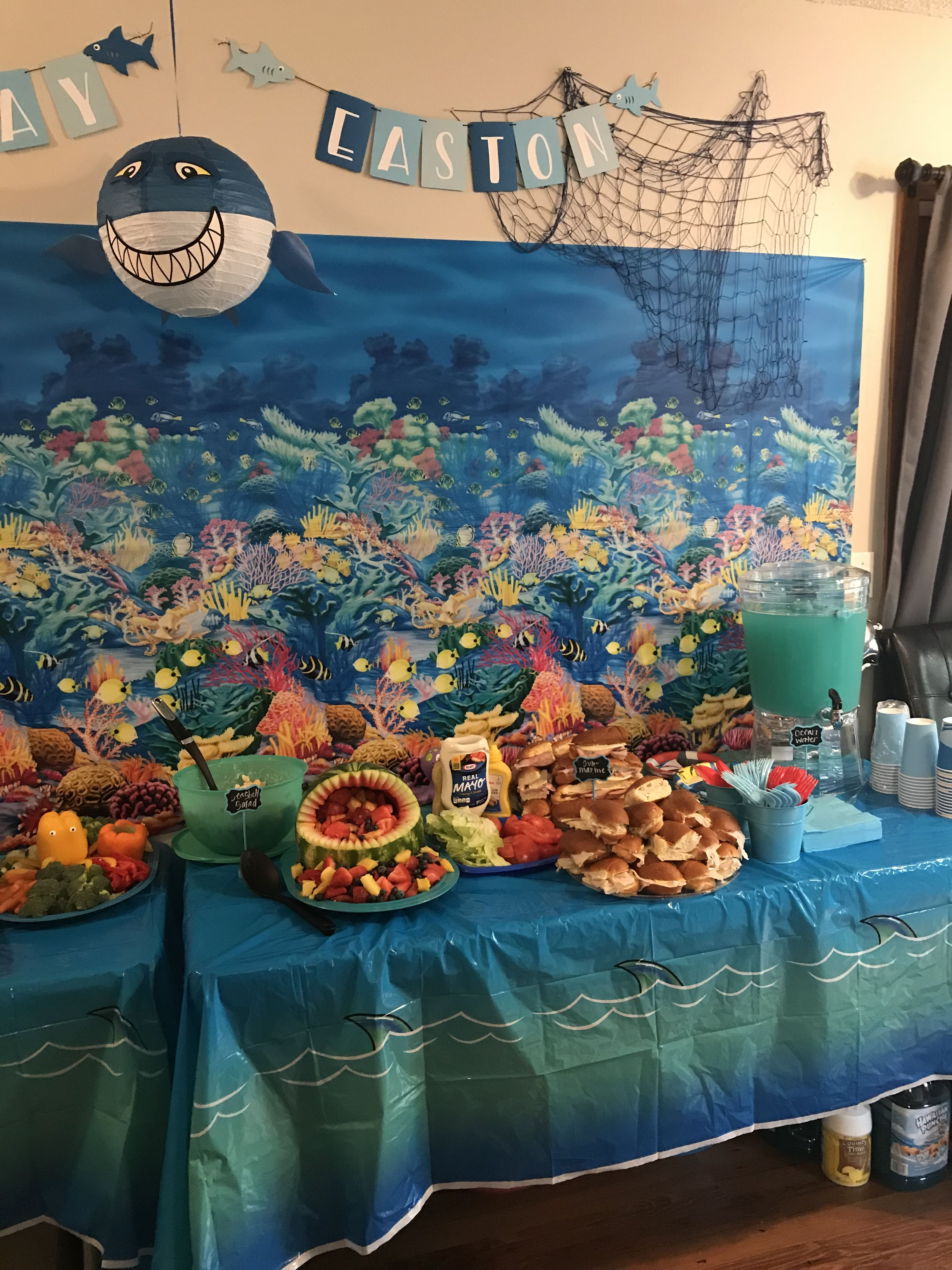 Our Baby Shark Birthday Party Easton S 1st Birthday In