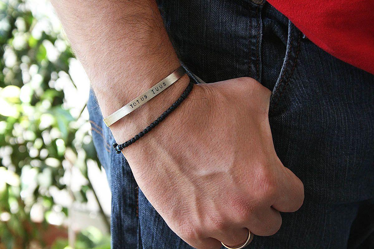 Bracelet men men bangle alpaca silver bracelet for him custom