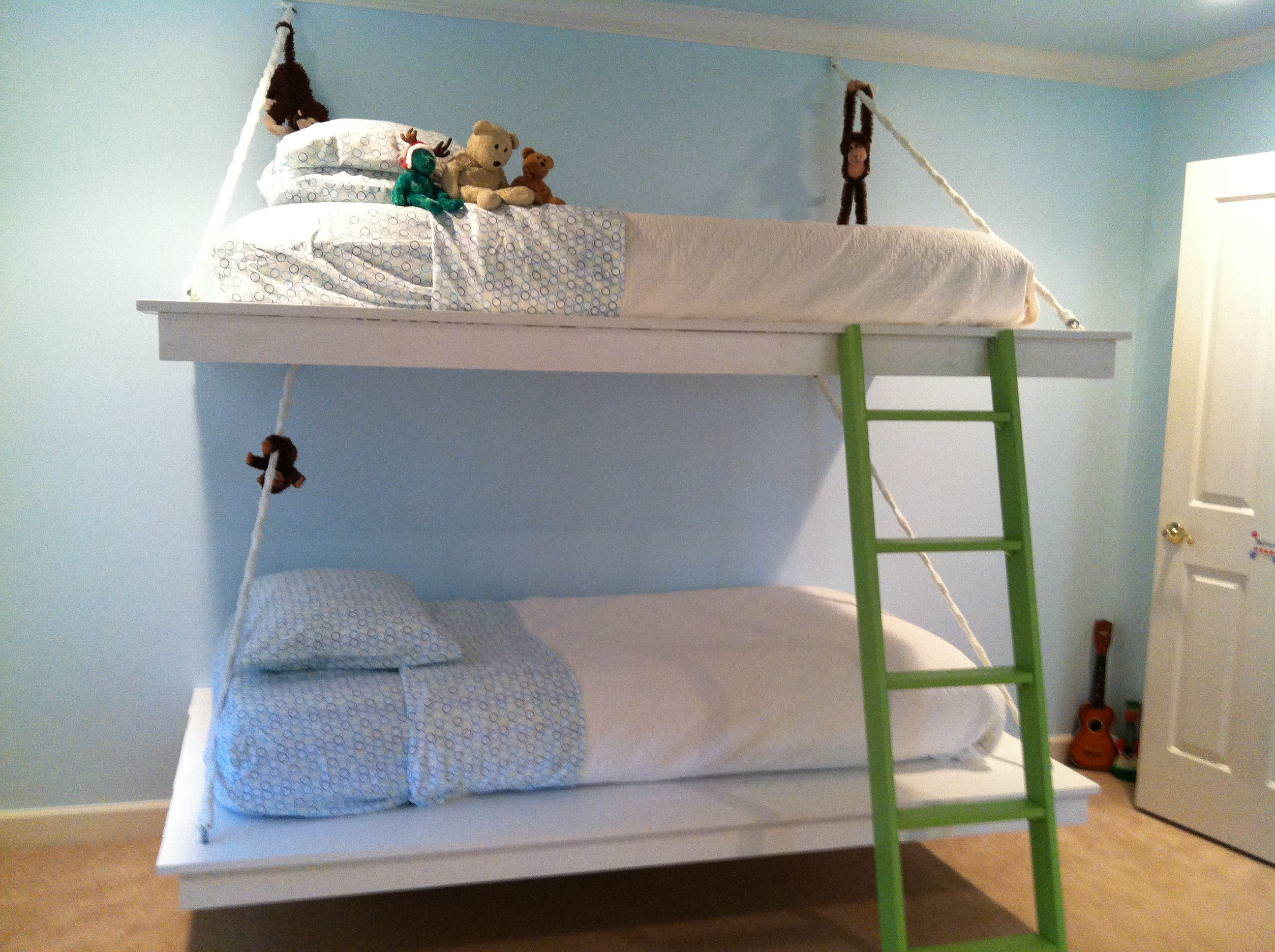 Bunk beds with slide and rope - Hanging Bunk Beds Do It Yourself Home Projects From Ana White