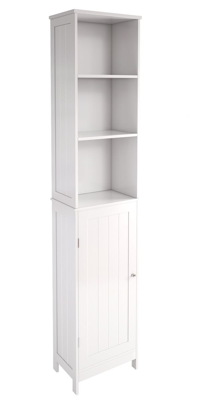 Tall Bathroom Cabinet With Mirror: Kyogle 34 X 163.8 Cm Free Standing Tall Bathroom Cabinet