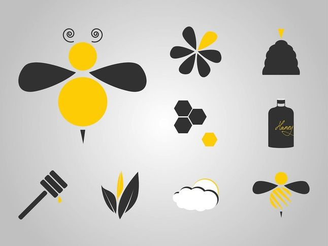 Bee Icons | Free vector | Free Clipart download
