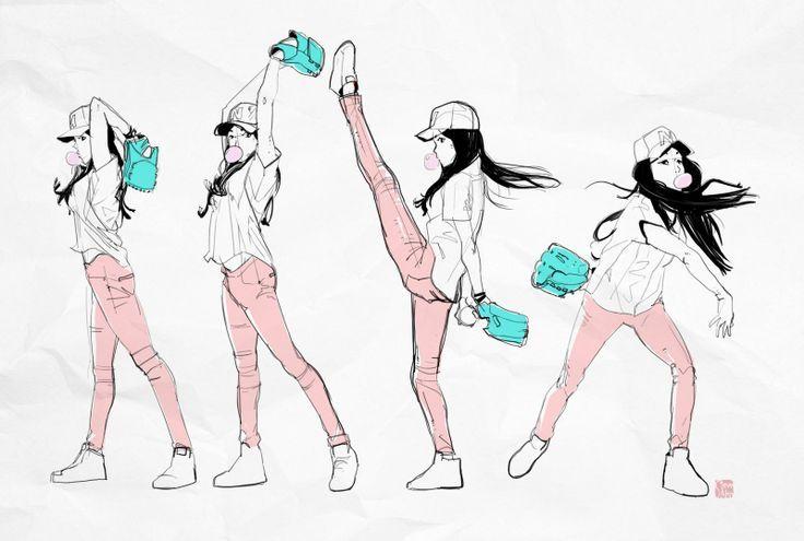 Some Baseball Girl By Steveahn Baseball Girls Character Design