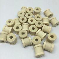100 pz / lotto 11x12mm naturale bobine in legno mini bobina di legno fai da te Strumenti di cucito artigianato filettatura accessorio da cucire per scrapbooking