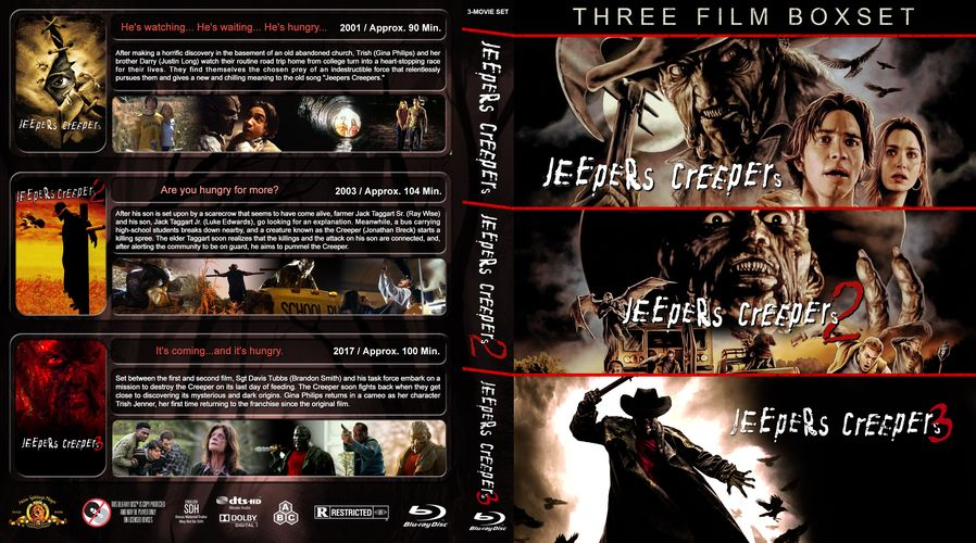 Jeepers Creepers Triple Feature Custom Blu Ray Cover Jeepers Creepers Jeepers Blu Ray Collection