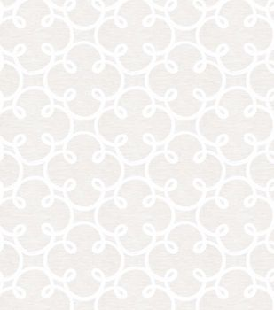 Home Decor Sheer Fabric- Eaton Square Tennessee Ivory Silver
