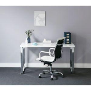 chrome office desk. White Chrome Office Desk