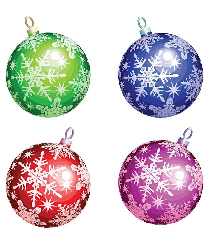 How To Decorate A Christmas Tree With Balls Christmas Ornate Balls #vector  Free Vectors  Pinterest  Free