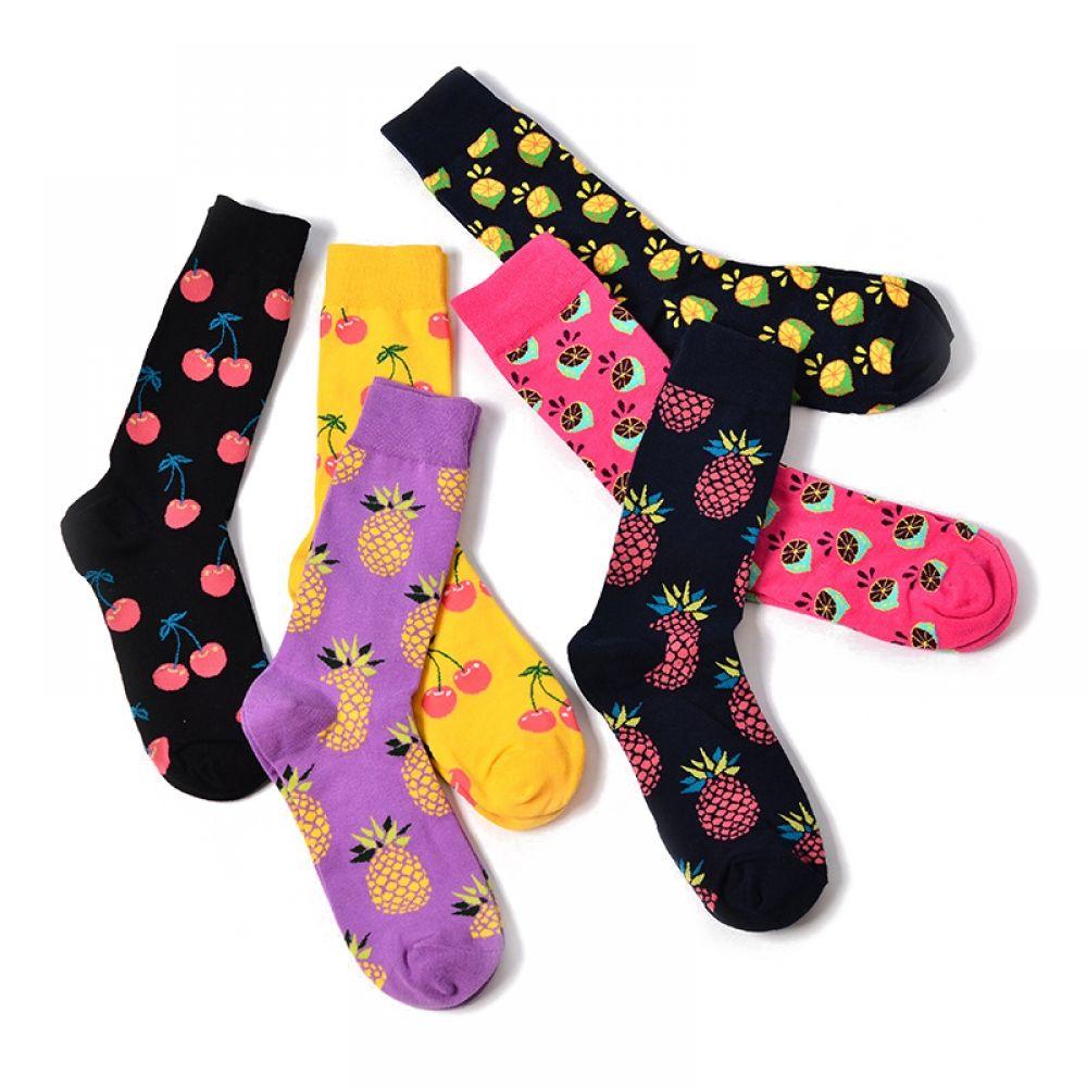2019 Men Women Cotton Sock Friuts Cactus Pineapple Printed Sport Funny Sock