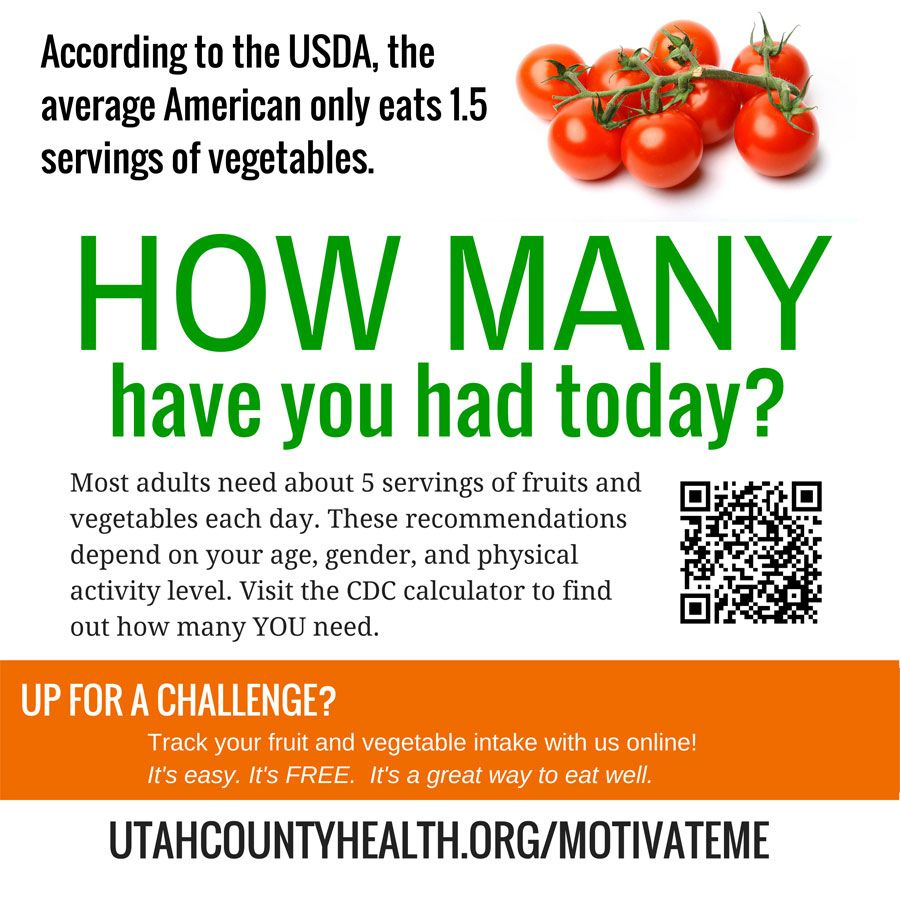 How many have you had? Take the nutrition challenge at www