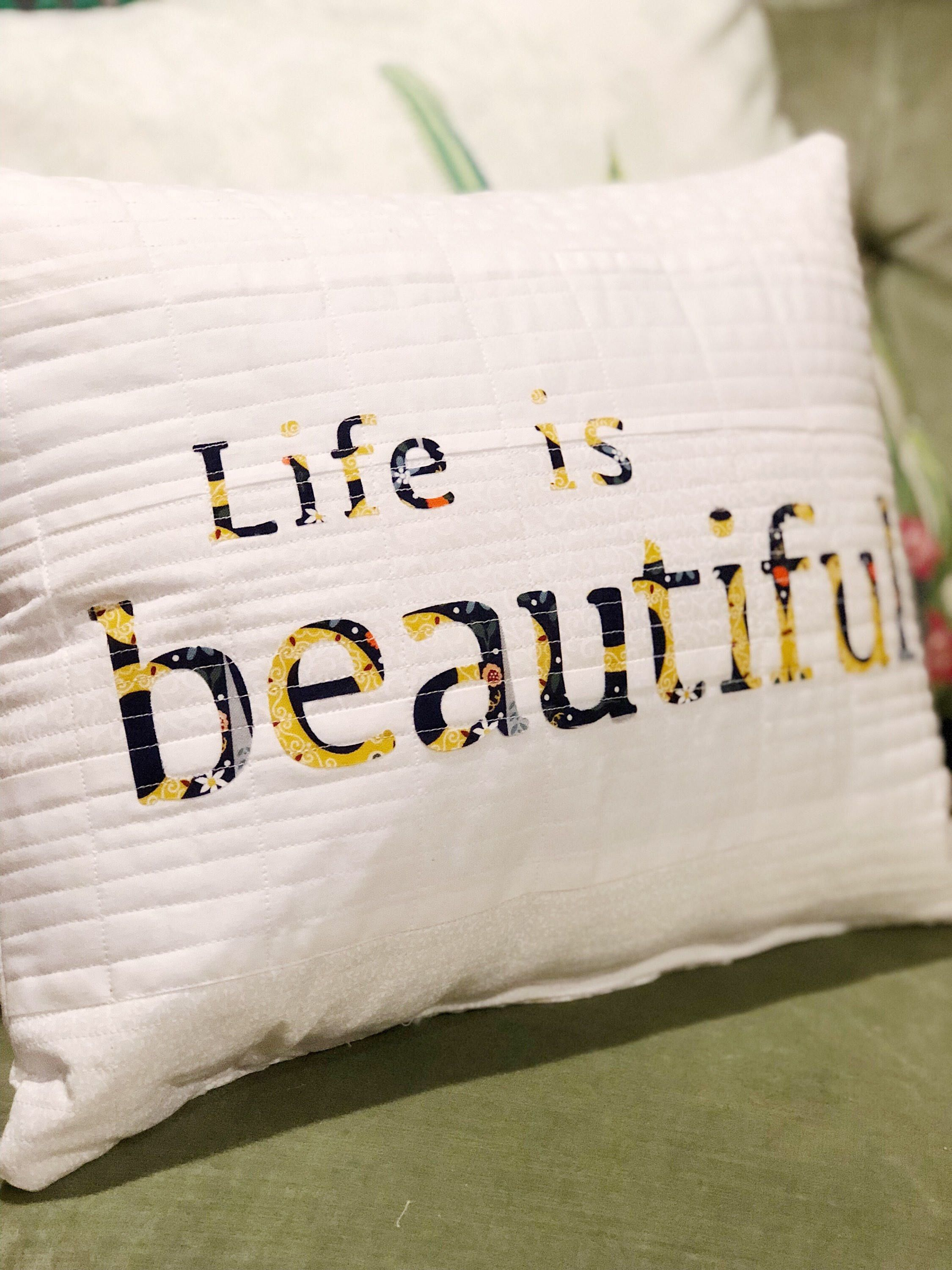 Life Is Beautiful 12X16 Decoratice Pillow