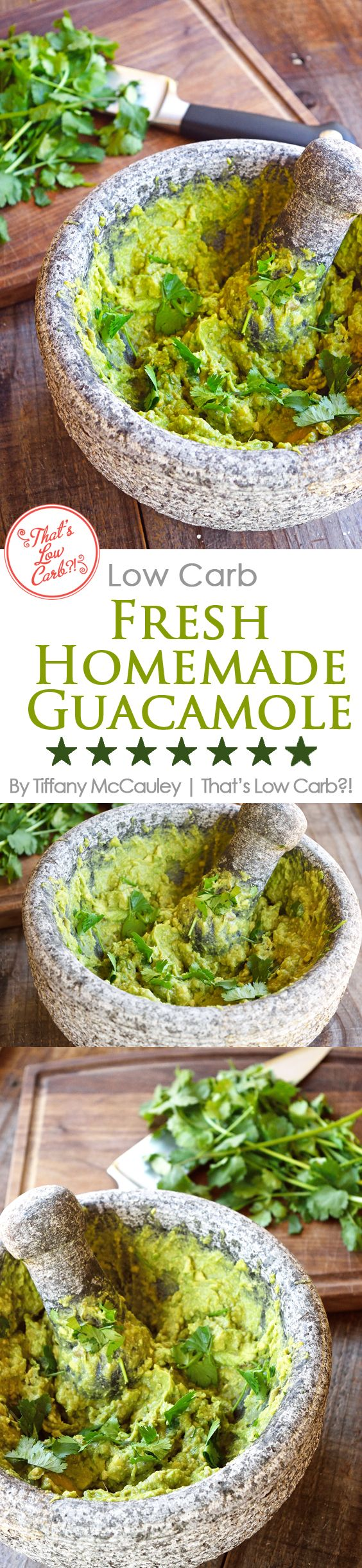 If you love guacamole, this low carb recipe is so delicious, nobody will know the difference!! Great served with mini peppers instead of chips! ~ http://www.thatslowcarb.com
