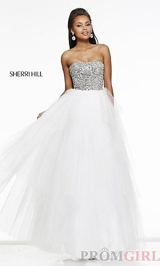 Long Strapless Sweetheart Ball Gown at PromGirl.com | Prom dresses ...