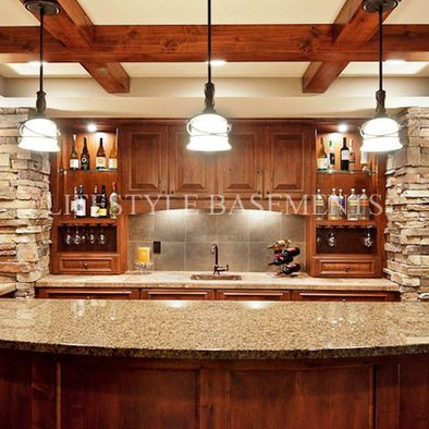 Wet Bar Traditional Basement Minneapolis Lifestyle - Lifestyle basements