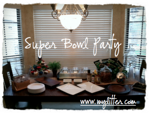 Super Bowl Table Decoration Tablescape Party Ideas