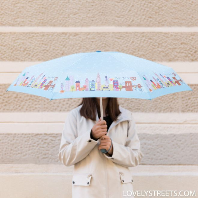 Small umbrella Lovely Streets - New York #smallumbrella Small umbrella Lovely Streets - New York - Mr. Wonderful  #mrwonderful #mrwonderfulshop #umbrella #brolly #rainyday #rainraingoaway #smallumbrella