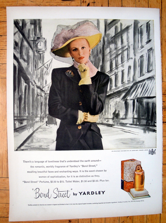 1947 Yardley Bond Street Perfume Fragrance ScentOriginal