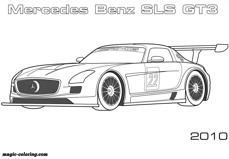 Transportation coloring pages | Mercedes benz sls, Cars ...
