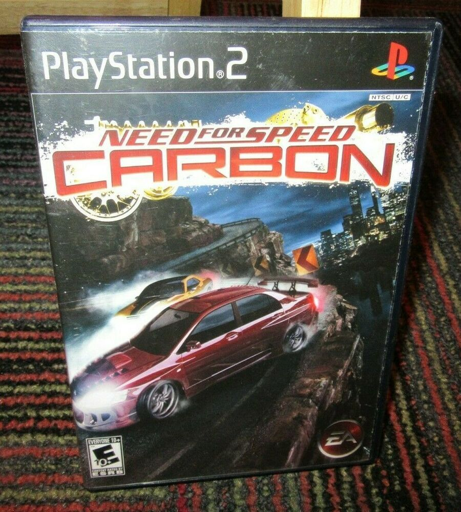 NEED FOR SPEED: CARBON GAME FOR PLAYSTATION 2 PS2, CASE