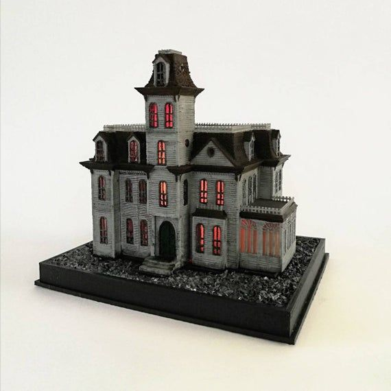 "The ""Gothic Nightmare Home"" A Movie Model Replica Miniature Model Fan Art"