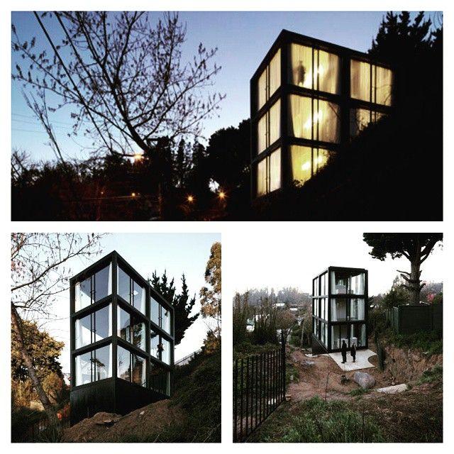 ⌂ The Container Home ⌂ Não é container mas poderia ser, Casa Arco, Chile, projeto de Mauricio Pezo e Sofia von Ellrichshausen #casacontainer