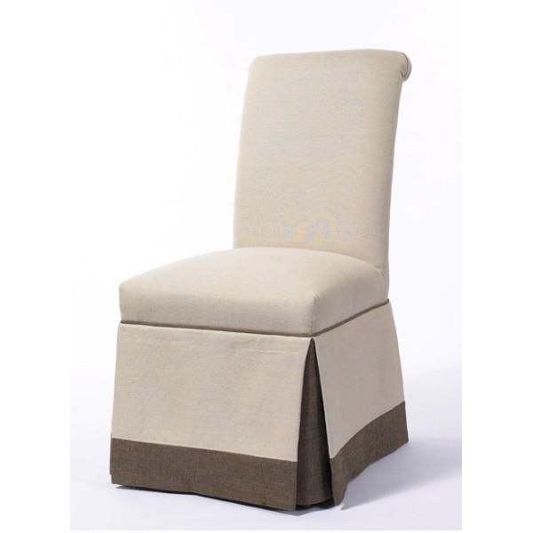 Deluxe Rolled Back Chair With Two Tone Pleated Skirt Cm330