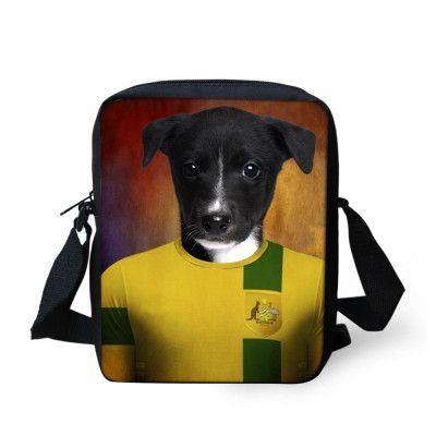 Original 3D Animal Dog Printing Women Messenger Bag Mini Ladies Girls Cross Body Bag Shoulder Bag Girls Crossbody Bags