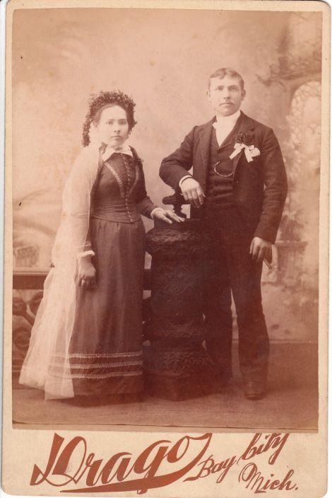BRIDE WORE BLACK_0001 THE BRIDE WORE BLACK: WEDDING COUPLE IN BAY CITY, MICHIGAN