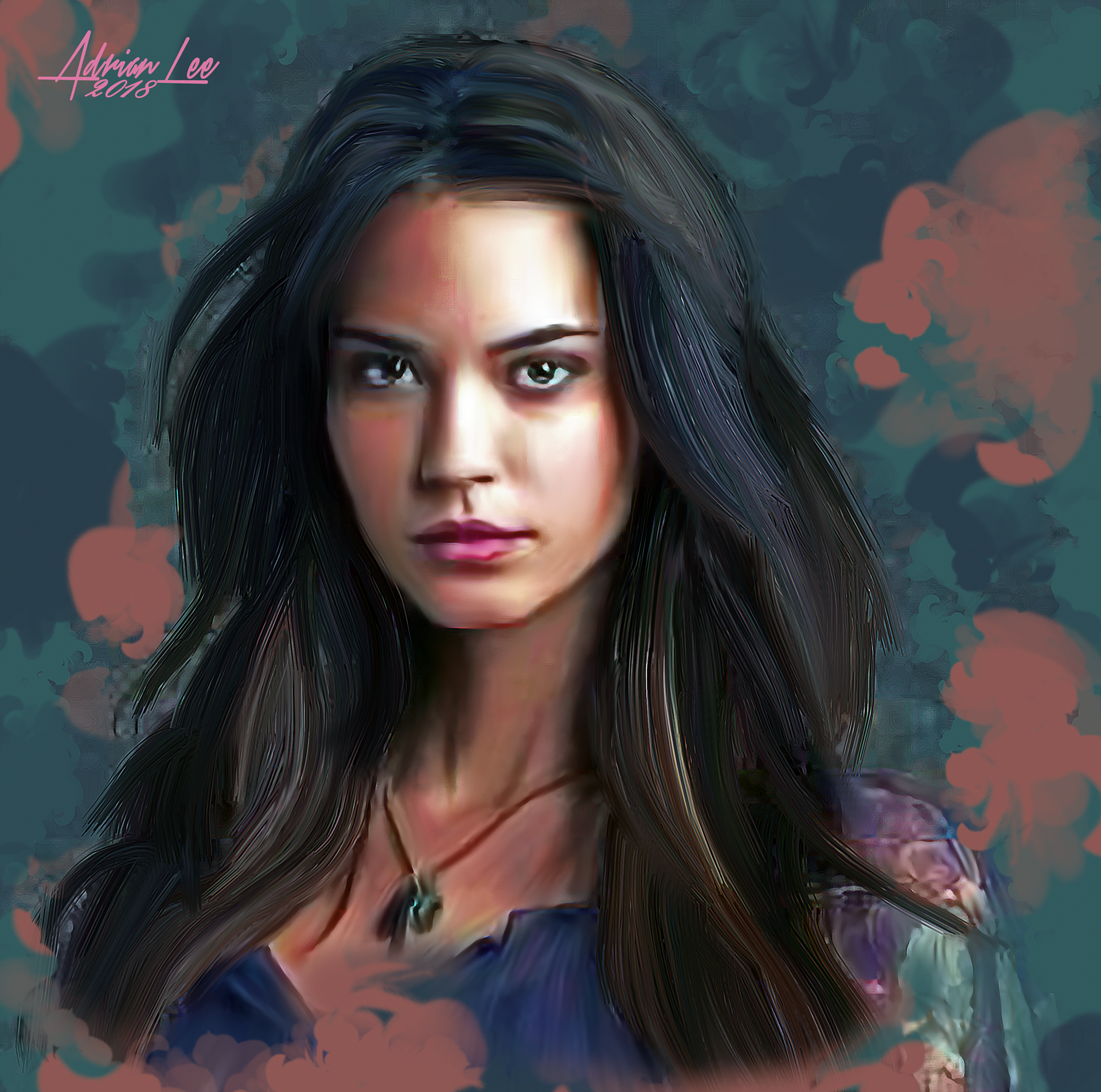 Odette Annable Supergirl House Rose Hathaway Odette Annable Digital Portrait