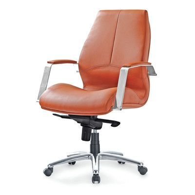 Impacterra Andrew Desk Chair Upholstery Brown Red
