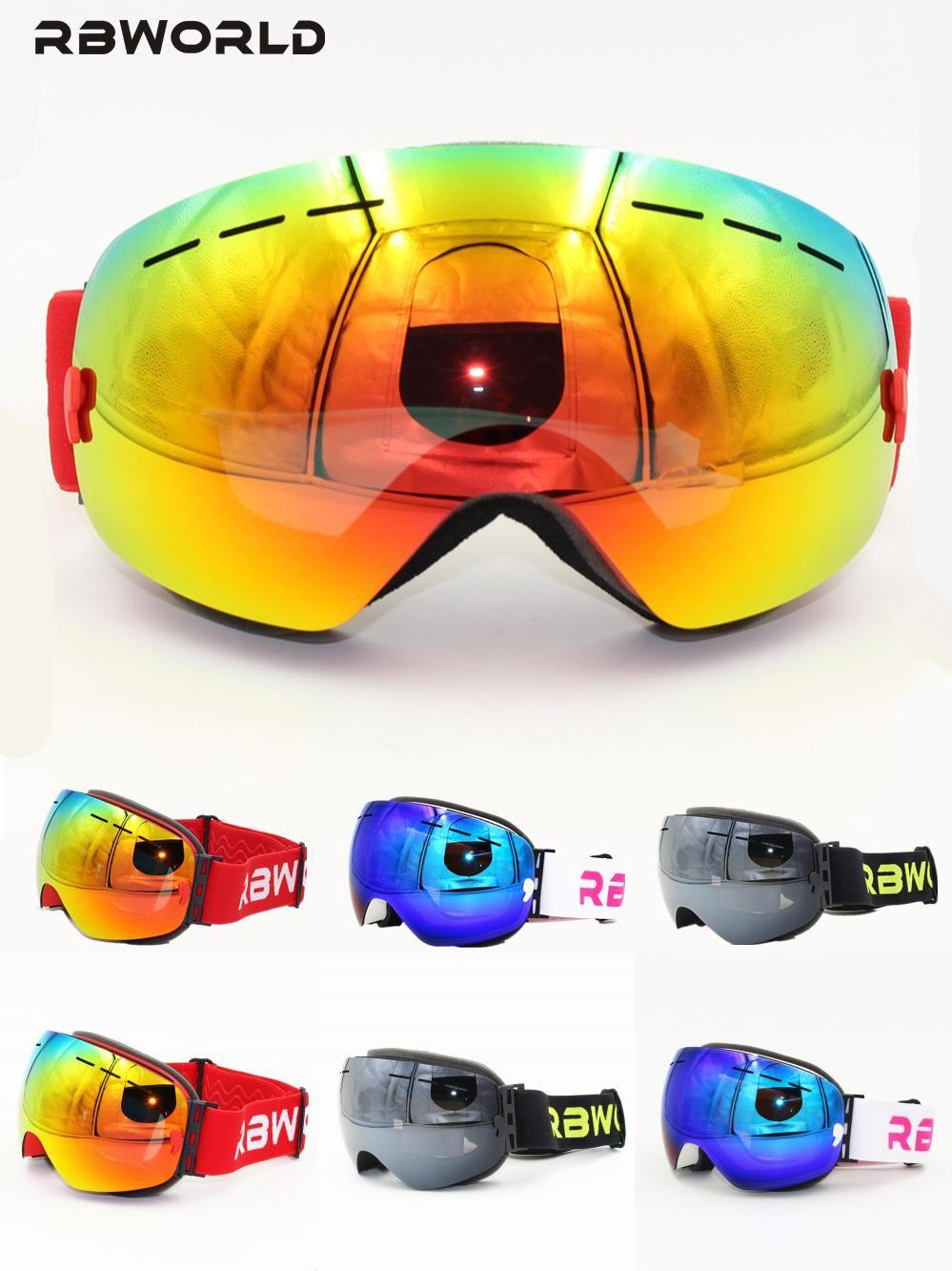 c4a59ca47184  Visit to Buy  New RBWORLD brand ski goggles double layers UV400 anti-fog