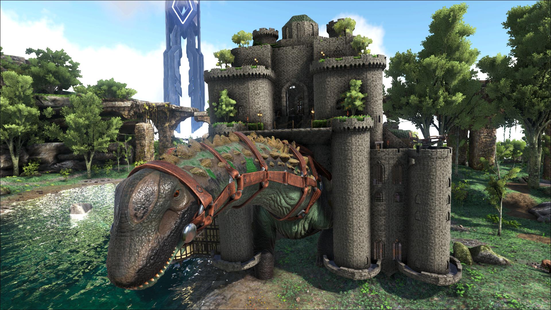 Ark, Titan Platform Base, Church And Village. Base Design.