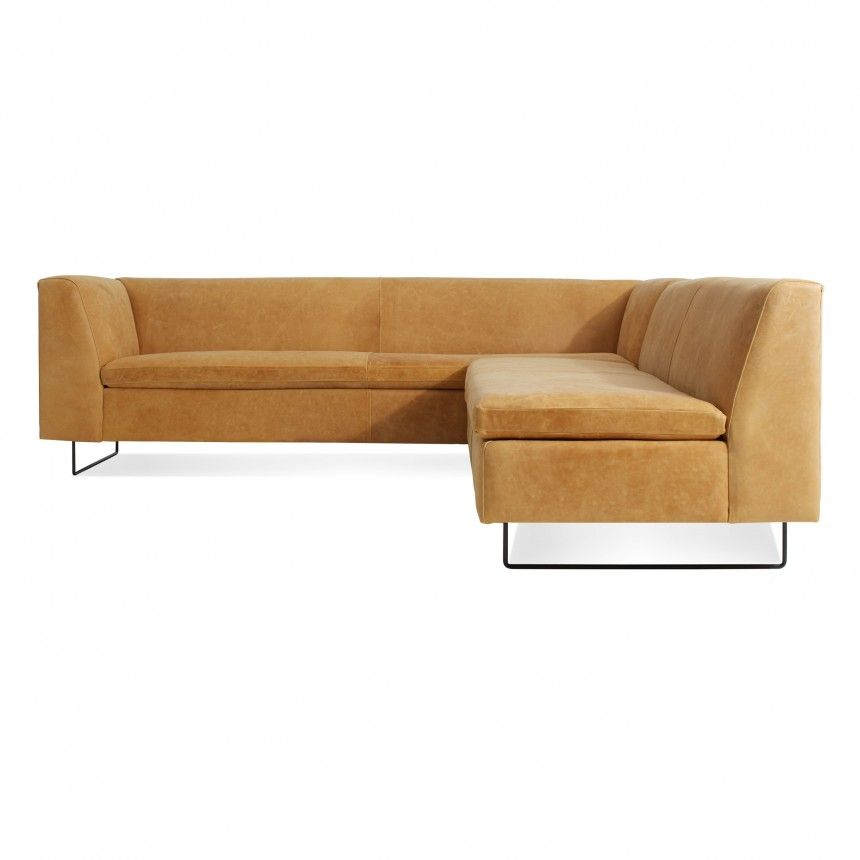 Bonnie  Clyde Leather Sectional Sofa - Camel Leather mueble