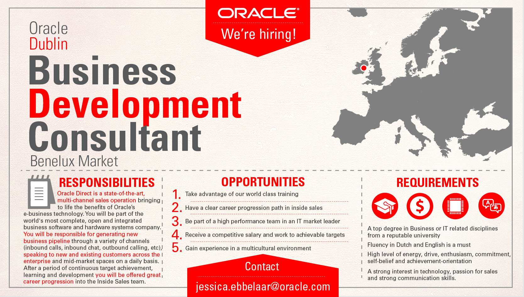 more information about the business development consultant your more information about the business development consultant your entry point in a s career oracle oracle benelux career business and