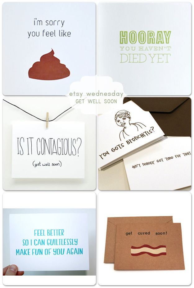 Etsy Wednesday: Get Well Soon