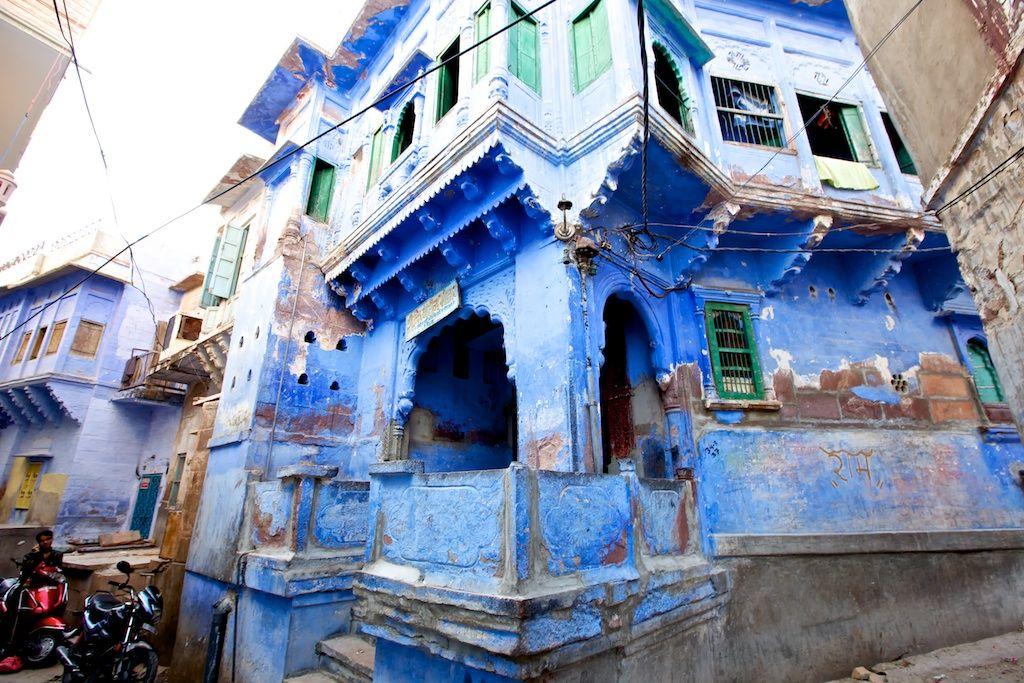 Jodhpur in Rajasthan Indië The Blue City Blue city