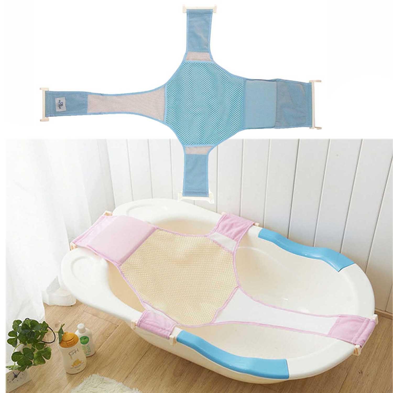 Adjustable Newborn Baby Bathtub Seat Support Shower Sling Hammock ...