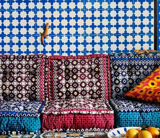 jassa bodenkissen in verschiedenen farben mit batikmustern. Black Bedroom Furniture Sets. Home Design Ideas