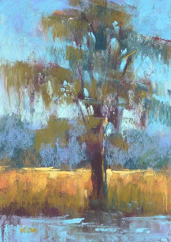 Lowcountry Cypress Tree Landscape Art Original Pastel Painting Landscape Art Lessons Pastel Painting Chalk Pastel Art