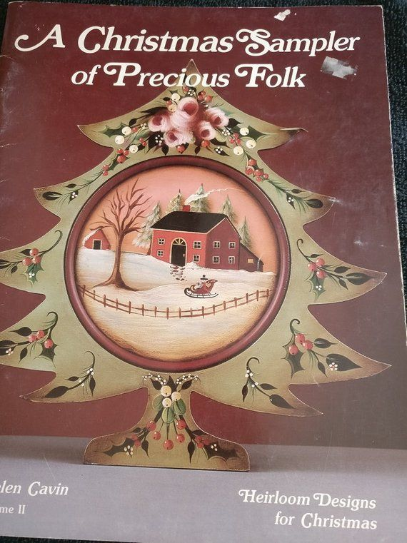A Christmas Sampler of Precious Folk Tole Painting Book #tolepainting